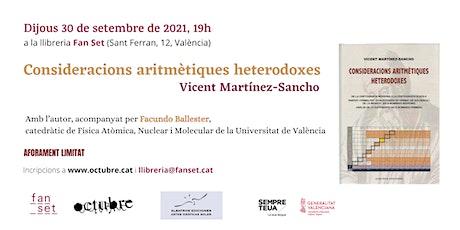 Consideracions aritmètiques heterodoxes, Vicent Martínez-Sancho (Albatros) entradas