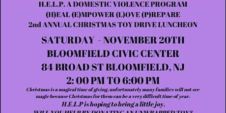 H.E.L.P A DOMESTIC VIOLENCE PROGRAM 2ND ANNUAL TOY DRIVE tickets