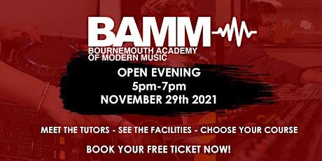 BAMM November Open Evening (16+ Music College) tickets