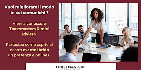 Impara a comunicare e a parlare in pubblico con Toastmasters biglietti