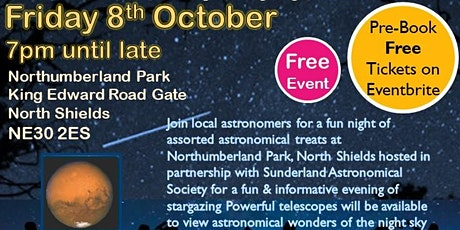 Stargazing Northumberland Park North Shields & Sunderland Astronomical Soc. tickets