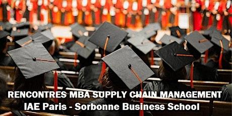 Rencontres MBA SCM billets