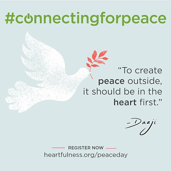 Connecting for Peace   International Peace Day   Heartfulness Meditation image