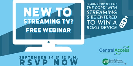 TV Streaming Webinar tickets
