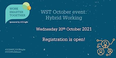 Work Smarter Together October event on Hybrid Working tickets