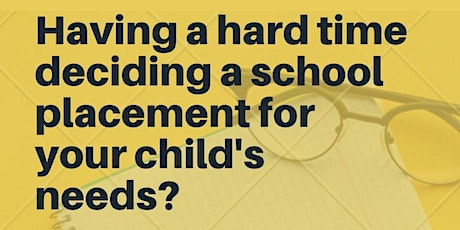How to decide Suitable School Placement for your Autistic child ? tickets