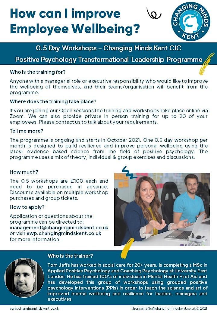 Wellbeing Webinar - Transformational Leadership Programme Introduction image