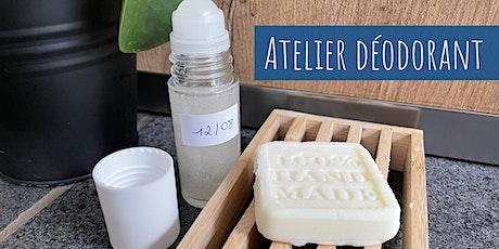 Atelier : j'apprends à réaliser mon déodorant naturel billets