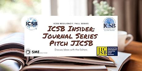 Journal Series: Pitch JICSB: September tickets