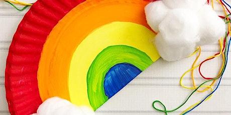 Manualidade de arco - Recomendado para jóvenes de 3 a 7 años. bilhetes
