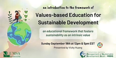 An introduction to Values-based Education for Sustainable Development tickets