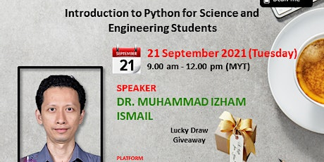 Webinar: Introduction to Python for Science and Engineering Students tickets