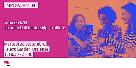 Women Will - Strumenti di leadership @ Roma biglietti