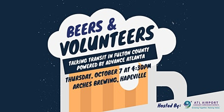 Beers & Volunteers: Join ATL Airport CIDs to Talk Transit in South Fulton tickets