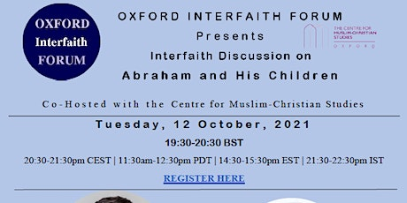 Oxford Interfaith Discussions on Abraham and His Children tickets