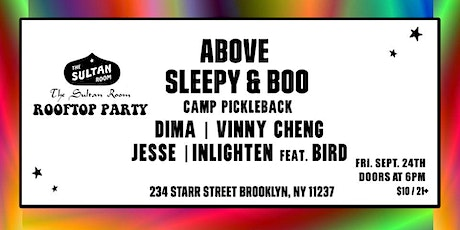 ABOVE - SLEEPY & BOO - ROOFTOP PARTY tickets