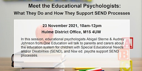 What Educational Psychologists Do & How They Support SEND Processes tickets