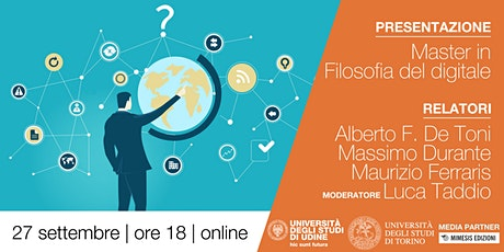 Presentazione | Master in Filosofia del digitale biglietti