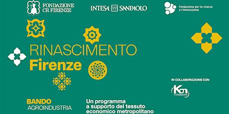 Roadshow di presentazione del bando Rinascimento Firenze V attuazione biglietti