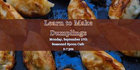 How to Make Dumplings tickets