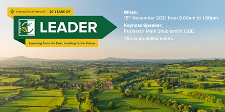 30 Years of LEADER: Learning from the Past, Looking to the Future tickets