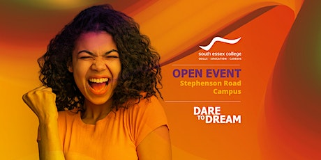 Open Event at South Essex College, Stephenson Road Campus (2021-22) tickets