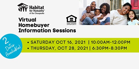 Habitat Chesapeake's Homebuyer Information Session | OCTOBER 2021 tickets