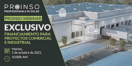PROINSO Webinar sobre Financiamiento para Proyectos Comercial e Industrial entradas