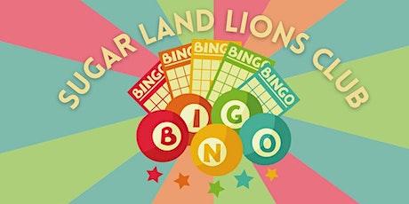 Sugar Land Lions Fall Virtual Bingo Fundraiser tickets