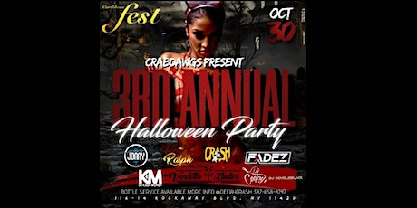 CRABDAWGS 3RD ANNUAL HALLOWEEN COSTUME PARTY tickets