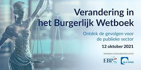 """Burgerlijk Wetboek 3 """"Goederen"""": de gevolgen voor de publieke sector tickets"""