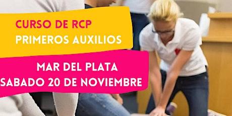 MAR DEL PLATA - 20/11 CURSO RCP Y PRIMEROS AUXILIOS entradas