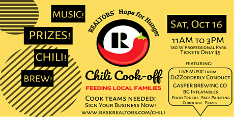 REALTORS® Hope for Hunger Chili-Cookoff tickets