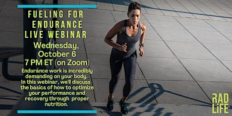 Nutrition for Endurance Live Webinar tickets