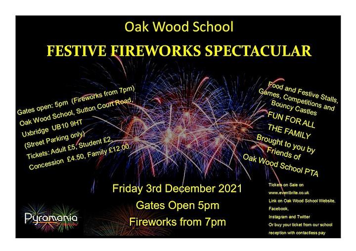 Oak Wood School Festive Fireworks Spectacular image