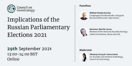 Implications of the Russian Parliamentary Elections 2021 tickets
