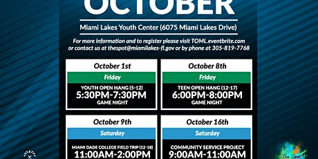 Miami Dade College Field Trip (ages 12-18) tickets