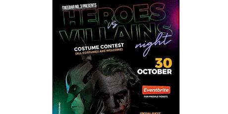 Heroes vs Villains at Treebar No. 3 tickets