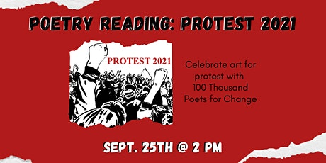 Poetry Reading: Protest 2021 with 100 Thousand Poets for Change tickets