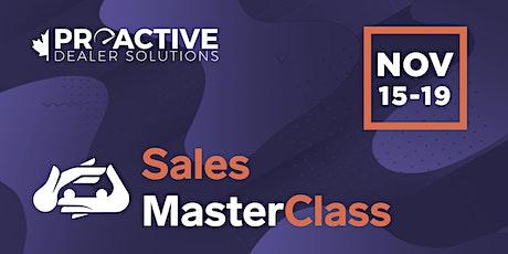 November - Canadian Sales MasterClass tickets