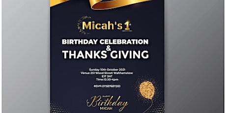 Micah's 1st birthday tickets