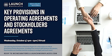 Key Provisions in Operating Agreements and Stockholders Agreements tickets