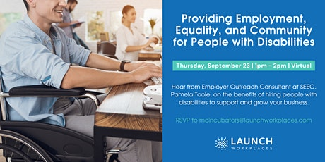 Providing Employment, Equality, and Community for People with Disabilities tickets