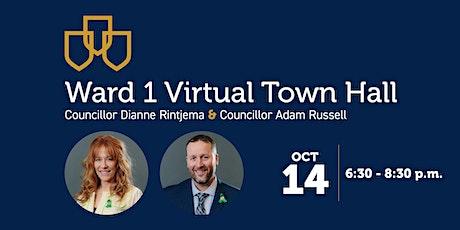 Ward 1   Virtual Town Hall tickets