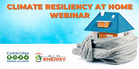 Climate Resiliency at Home Webinar, Morning Session tickets