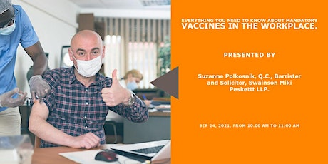 Everything you need to know about mandatory vaccines in the workplace. tickets