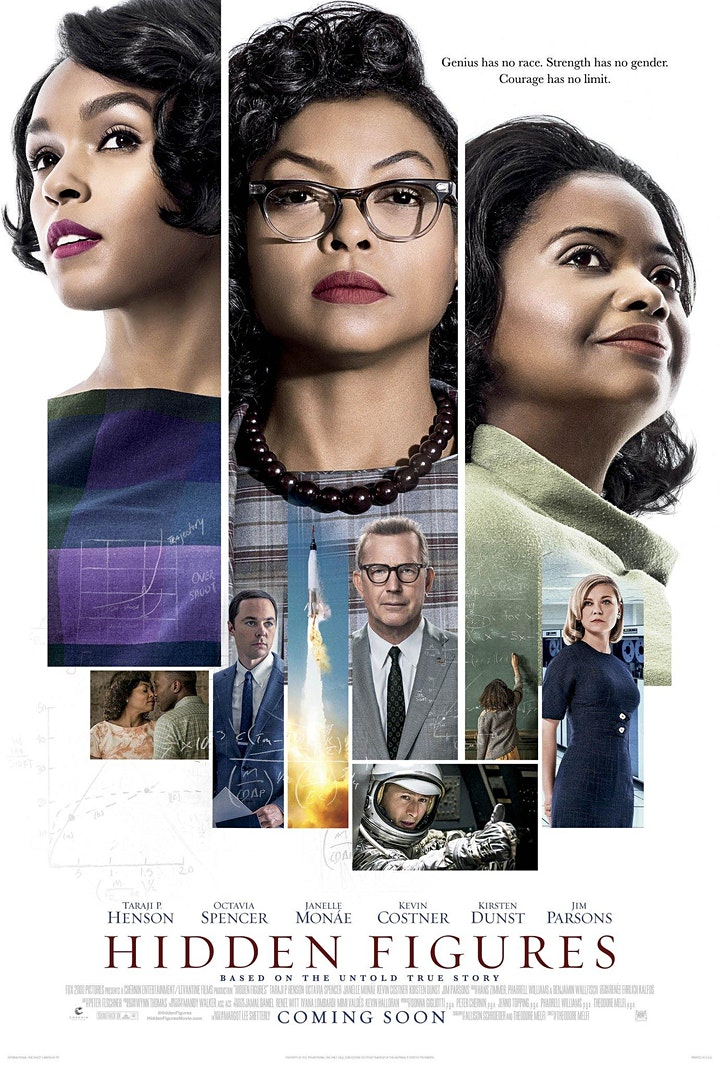 Ware's the Film Festival @ Christ Chuch presents Hidden Figures image