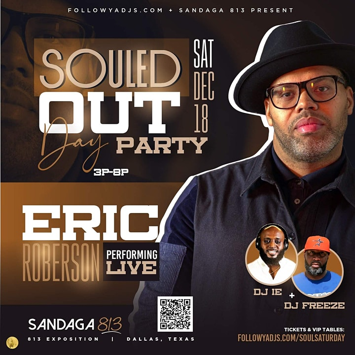 SOULED OUT DAY PARTY: Eric Roberson Live image