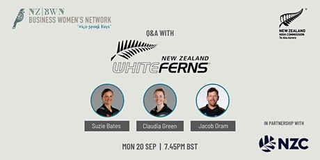 Q&A with the NZ WHITE FERNS - Suzie Bates, Claudia Green & Jacob Oram tickets