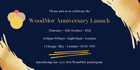 WoodMor Anniversary Launch tickets
